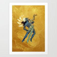 Danseurs Cosmiques 5 Art Print