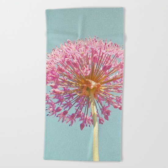 Pink Allium Beach Towel