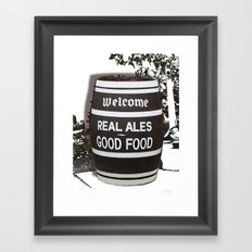 Real Ale Beer Barrel Framed Art Print