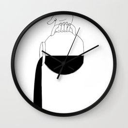 Manet's Diner Coffee Can Wall Clock