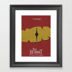 The Hobbit - the Desolation of Smaug - Minimal Movie Poster Framed Art Print