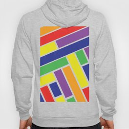 Bold Colorful Line Design Hoody