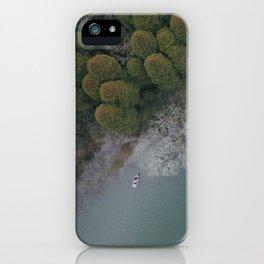 Lakeside trees iPhone Case