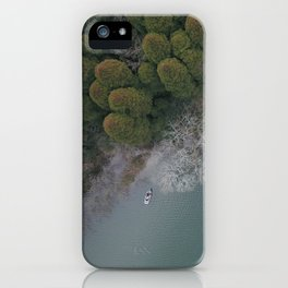 Lakeside trees iPhone Case