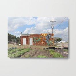 Keep It Simple Mural Metal Print