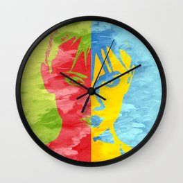 Punk head Wall Clock
