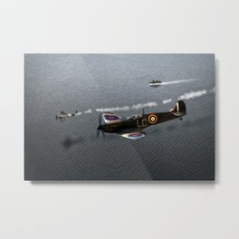 Down In The Channel Metal Print