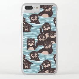 Otters dazzling the audience Clear iPhone Case