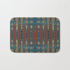 South Western Color Palette Mosaic Pattern Bath Mat