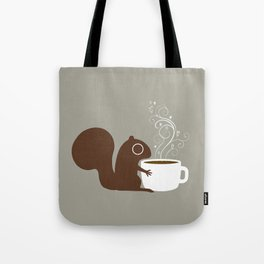 Squirrel Coffee Lover Tote Bag