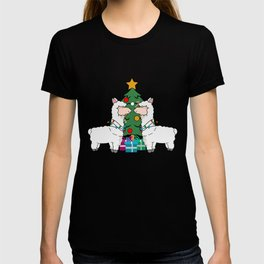 llama Christmas T Shirt T-shirt