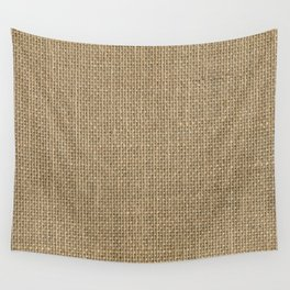 Natural Woven Beige Burlap Sack Cloth Wall Tapestry