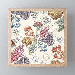 Mushroom Color Wheel Framed Mini Art Print