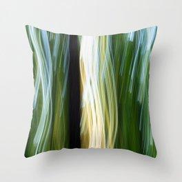 Flora Abstract Throw Pillow