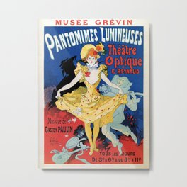 Vintage film history ad Jules Cheret Metal Print