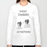 frames Long Sleeve T-shirts featuring Just add frames! by Violetgrayveil