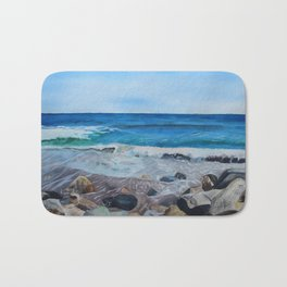Hampton Beach Painting Bath Mat