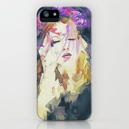 Path - Abstract Portrait iPhone Case