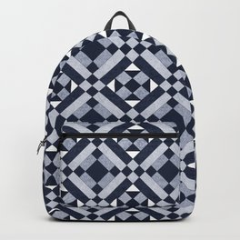 Blue Stone Quilt  Backpack