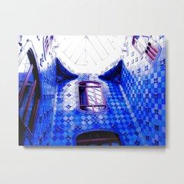 Blue Battlo House Metal Print