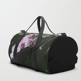 White & Purple Orchids Duffle Bag