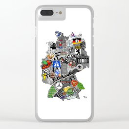 Germany Doodle Clear iPhone Case