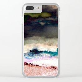 Hawaii Makaha Beach Abstract Clear iPhone Case