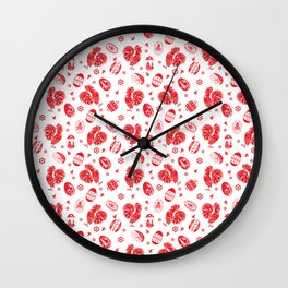 Easter red Wall Clock