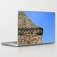 castle in the sky Laptop & iPad Skins featuring Edinburgh Castle & Sky by MerchChicago