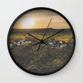 Sundown rugged landscape on the Irish coast Wall Clock