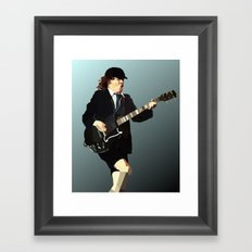 Low Polygon Portrait of Angus Young Framed Art Print