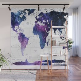 ALLOVER THE WORLD-Galaxy map Wall Mural