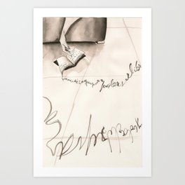 Sleeping Letters  Art Print