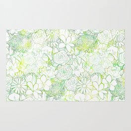 Fresh bright blooms Rug