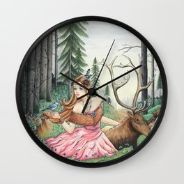 The Queen of the forest Wall Clock