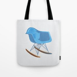 Mid-Century Rocker Chair - Blue Tote Bag