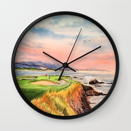 Pebble Beach Golf Course 7th Hole Wall Clock