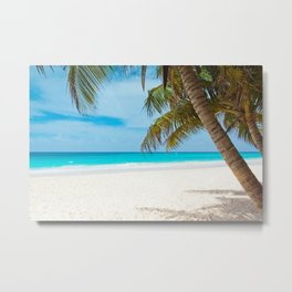 Turquoise Tropical Beach Metal Print