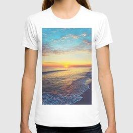 Summer Sunset Ocean Beach - Nature Photography T-shirt