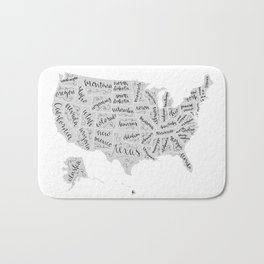 United States of Hand Lettering Bath Mat
