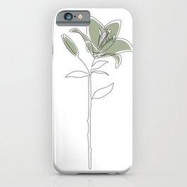 Matcha Lily iPhone Case