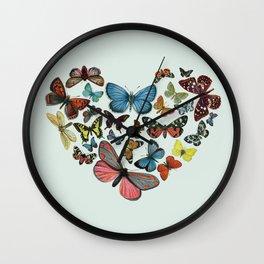 BUTTERFLY LOVE II Wall Clock