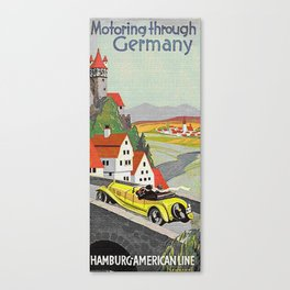 """Motoring through Germany,"" 1929 Canvas Print"