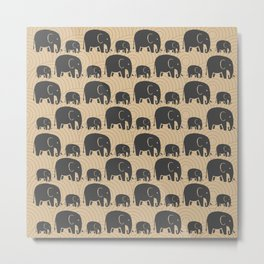 Elephant Earth Metal Print