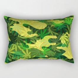 Green Marijuana Cannabis camo camouflage army style pattern Rectangular Pillow