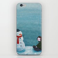 snowman iPhone & iPod Skins featuring Snowman by Tona