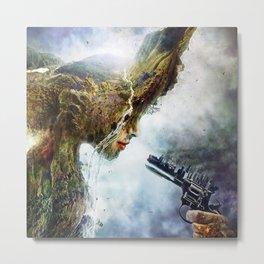 Mother nature is in War Metal Print