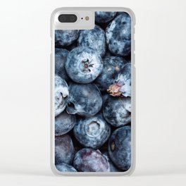 А scattering of blueberries Clear iPhone Case