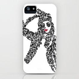 Kanji Calligraphy Art :woman's face #25 iPhone Case