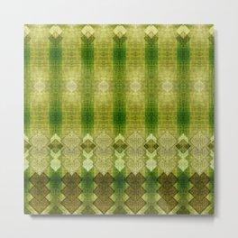 """Green diamonds pattern"" Metal Print"